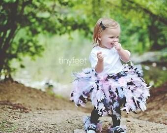Feather Tutu, Feather Skirt, Pageant OOC, Outfit of Choice, Brithday Tutu, Tu Tu, Pink White Black Tutu, Baby Tutu