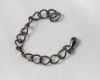 8 pcs - Gunmetal Extender Chain