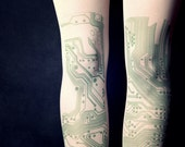 Geek  - Milky Tattoo Tights - Free Shipping - Made to order :)
