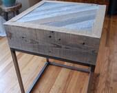 Rustic-Industrial End Table