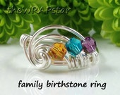Personalized Mothers Gift for Mom Family Ring Mothers Ring Personalized Jewelry Wire Wrapped Jewelry Handmade Gift for Mom ITEM0350