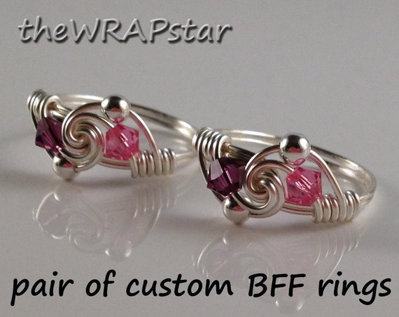 Items Similar To Personalized Friendship Rings Cute Gifts