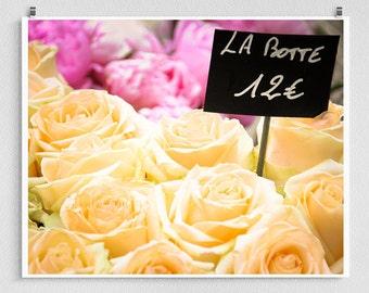 Paris photography - Paris Roses,Paris photo,yellow,rose,Fine art photography,Paris decor,8x10 wall art,white,Fine art prints,Art Posters