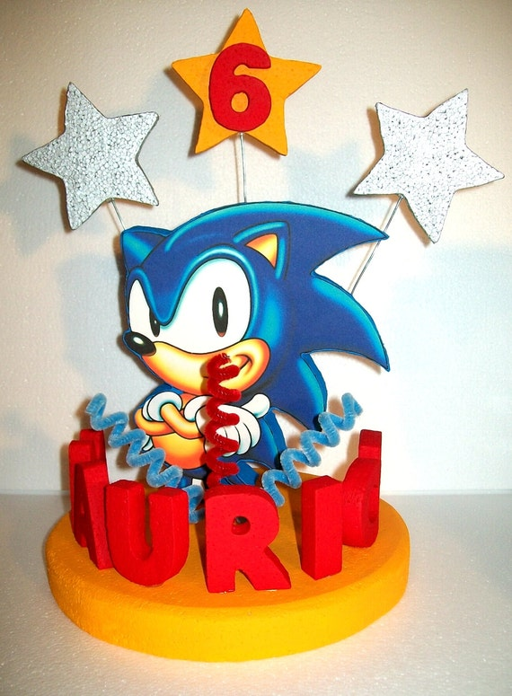 Sonic The Hedgehog D Cake Toppers