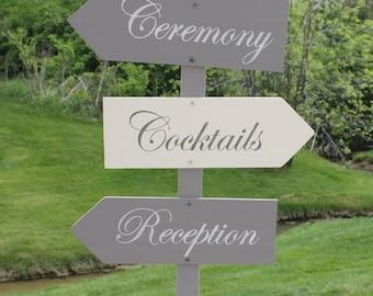 Arrows Wedding Signs/Directional/Reception/Photo Prop/Arrow/U Choose Colors/Great Shower Gift