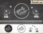 15 Pieces Custom Premade Logo set - Modern Whimsical Circus Marketing Identity kit
