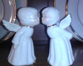 Two Kissing Vintage Angels