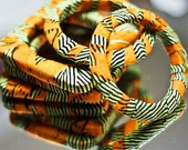 Orange zebra bangles