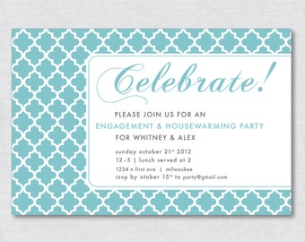 "4""x6"" Classic Party Invitation - Digital File"