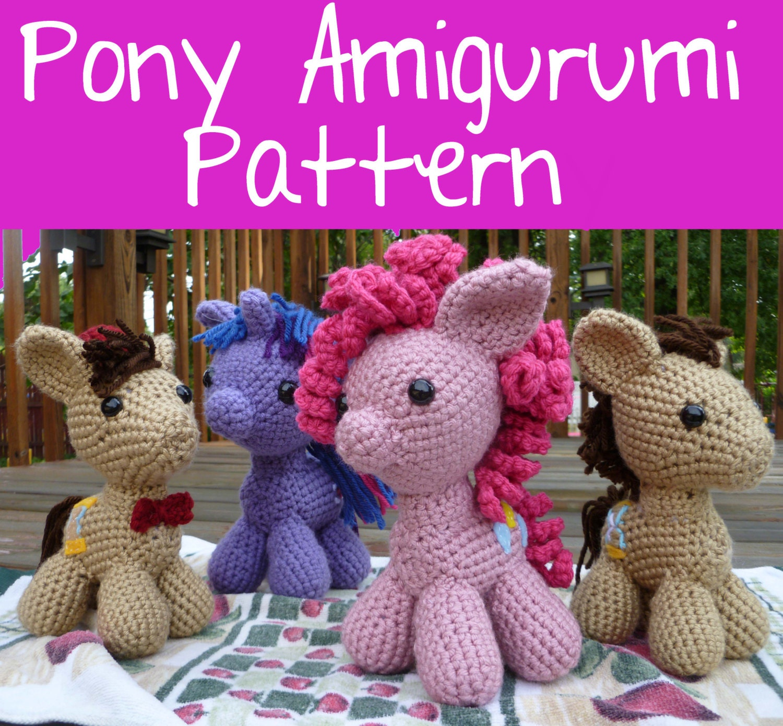Ponytail Amigurumi : Crochet Pattern: Pony Amigurumi PDF Instant by MilesofCrochet