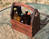 2 Rustic 6-pack beer bottle carriers crates 12 oz longnecks wood six pack homebrew microbrew tote new great for gift wedding