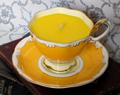 Teacup Soy Candle: Royal Albert Yellow