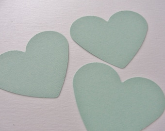 Mint Green Paper Heart Tags Mint Green Wedding Wish Hearts Paper Cut Outs Die Cuts Wedding Shower Heart Decorations Tags Set of 50