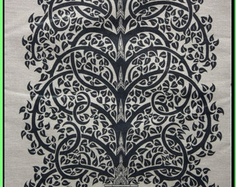 Thai traditional art of Bodhi Tree by silkscreen printing on cotton