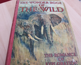 Vintage The Wonder Book Of The Wild - The Romance Of Exploration