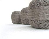 300gr/10,5 oz of organic Linen yarn, linen thread, natural linen color, grey