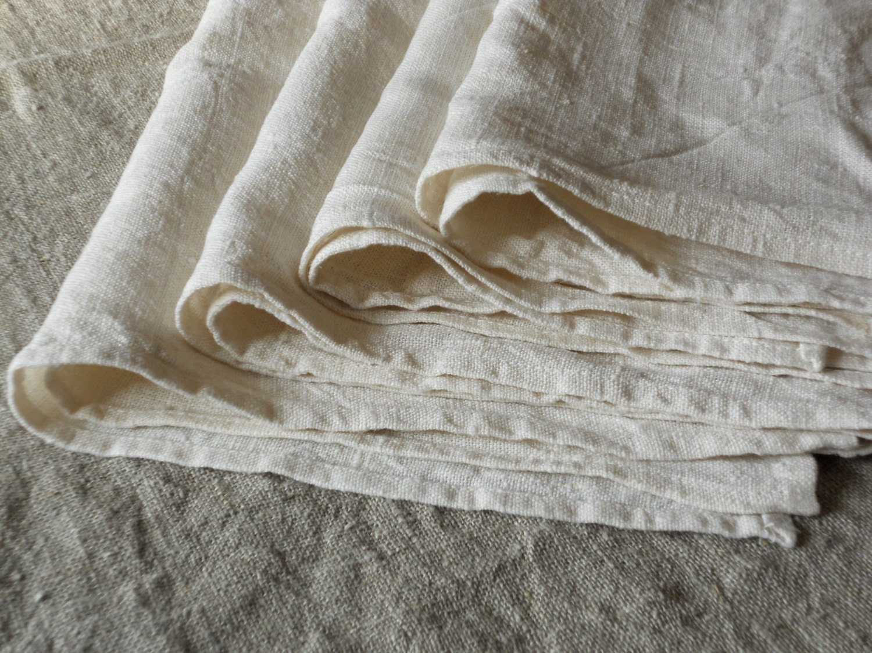 linen hand towel tea towel dish towel set of 4 natural white. Black Bedroom Furniture Sets. Home Design Ideas