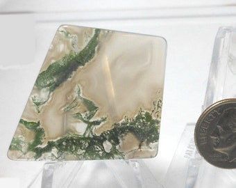 Green Moss Agate Cabochon ID-1305310002