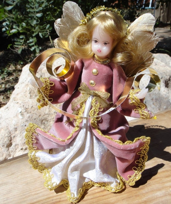DROZD Wax Face and Hands Angel Tree Topper