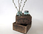 Wood Box, Advertising Box, Capewell Horse Nails - oldgoatandhorse
