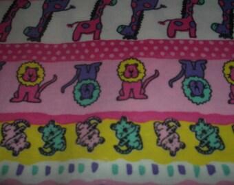 Pink Jungle cotton rib fabric