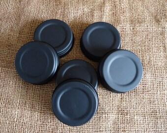 Black Mason Jar Lids, black jar lids, mason jar crafts, jar candle lids, jar gifts