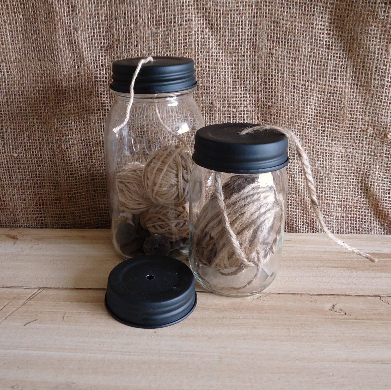 Mason jar lids with holes mason jar crafts galvanized mason for Jar crafts