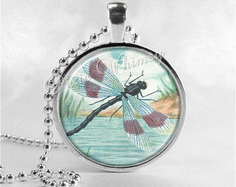 DRAGONFLY Necklace Art Pendant Jewelry, Insect Jewelry, Dragonfly Jewelry, Dragonfly Pendant