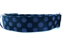 The Tricky Dog Collar - Handmade Dog Collar - Unique Dog Collars - Durable Dog Collars - Made in Texas - Polka Dots