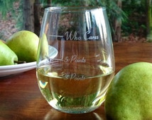 The Points Glass in stemless - Uses Weight Watchers PointsPlus
