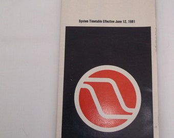 Northwest Orient Airlines System Timetable 1981