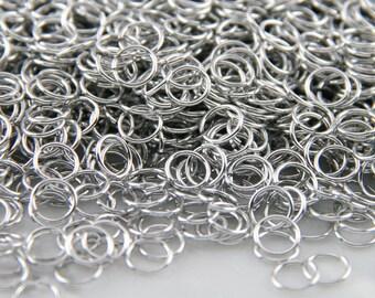 20g 3/16 , 1/2 oz Saw Cut Bright Aluminum Chainmail Jump Rings
