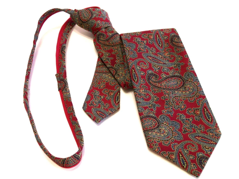 zipper tie vintage 80s mens polyester silk blend unique zip