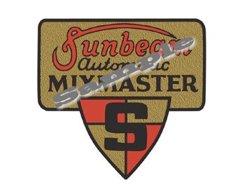 Vintage Sunbeam Mixmaster Replacement Decal