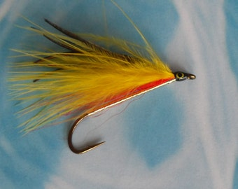 Marabou Streamer Fly, Ballou Special, Red and Yellow, Fly Fishing Fly