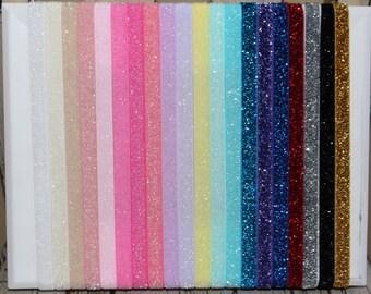 Set of 10 Interghangeable Glitter Headbands