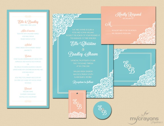 Wedding Invitations Coral Color: Wedding Ideas: Coral, Mint And Teal Wedding