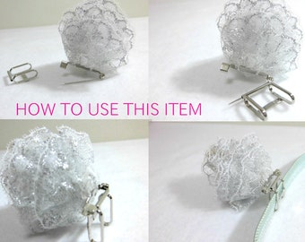 2 ways metal brooch obi-dome base for hand made brooch and obi-dome / made in Japan