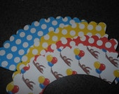 Curious George Inspired Cupcake Wrappers  Set of 12   Birthday Party  Monkey