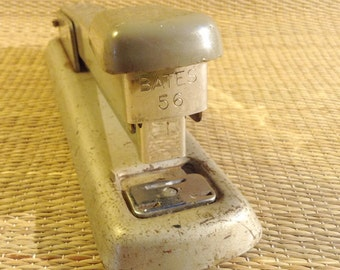 Vintage Bates Stapler Model 56 all Steel Construction For Office, heavy duty