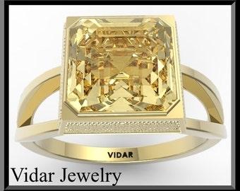 Engagement Ring,Yellow Engagement Ring,Citrine Engagement Ring,Engagement Ring,Unique Engagement Ring,Bridal Wedding Ring.