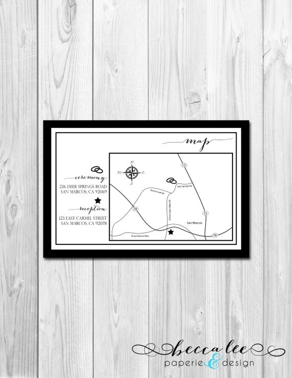 Customizable Event/Wedding Map - Classic - DIY - Printable