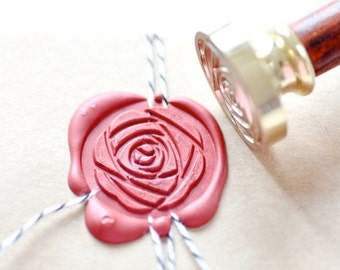 B20 Wax Seal Stamp Peony Camellia Flower