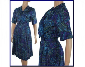 Vintage 1950s Dress Designer Rockabilly Garden Party Mad Man Couture Pinup Bombshell Femme Fatale Full Circle