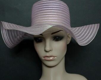 Vintage 1970s Floppy Hat Garden Party Mad Man Rockabilly Designer Dress Retro femme fatale