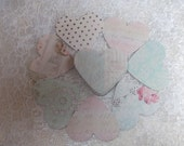 Heart Table Confetti floral pattern - perfect for wedding decoration, vintage, shabby chic wedding