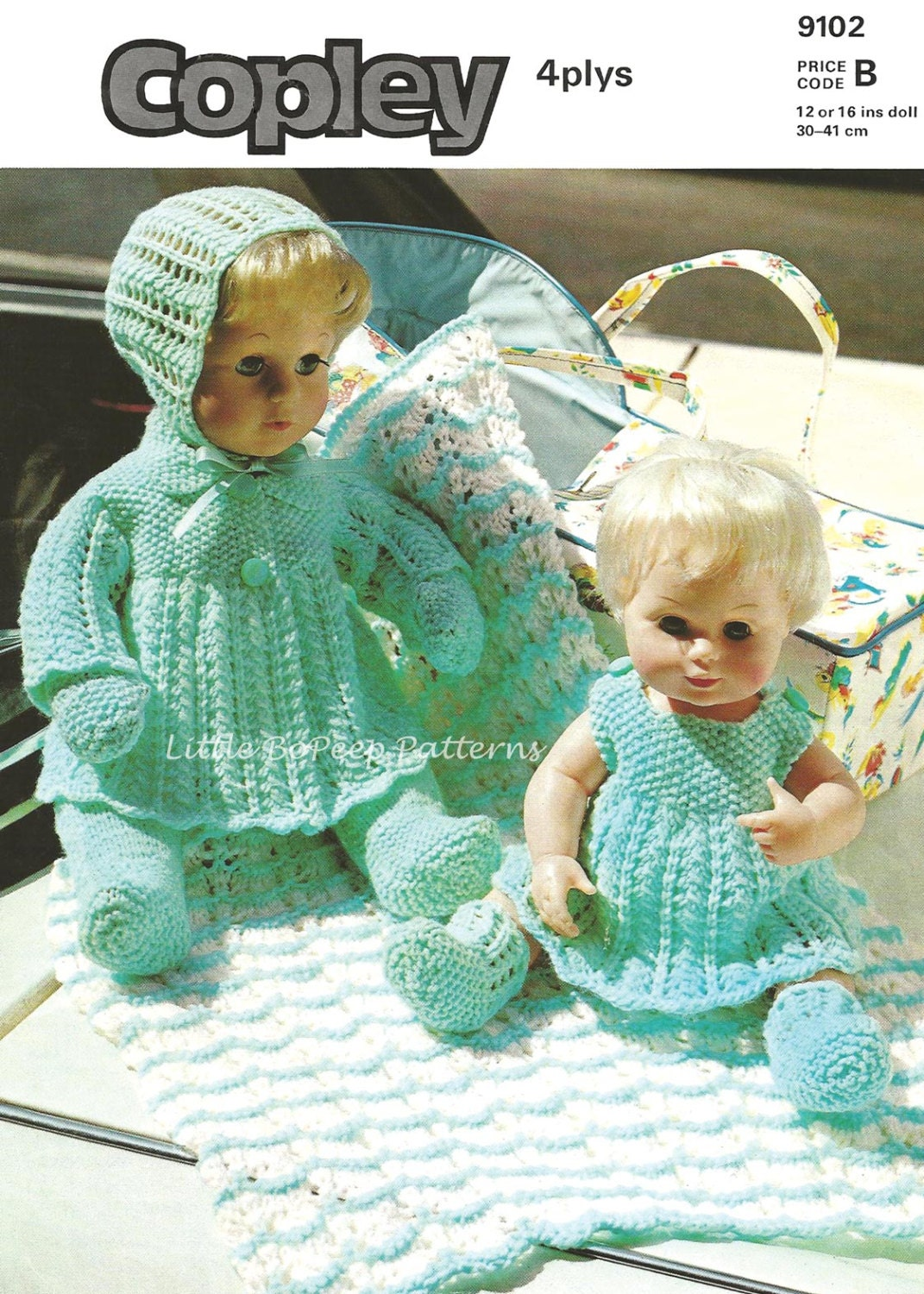 Vintage Knitting Patterns Dolls Clothes : Vintage knitting pattern for 12 inch Doll clothes DOWNLOAD