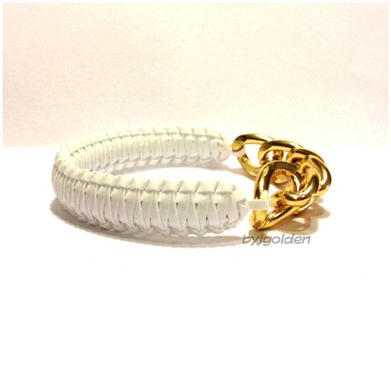 Chunky White w/ Gold Chain