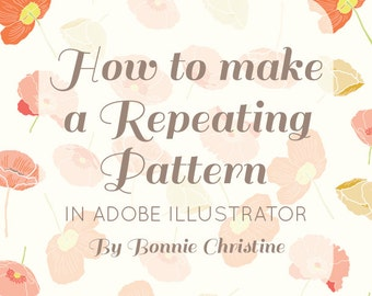 how to make a repeating pattern in adobe illustrator tutorial