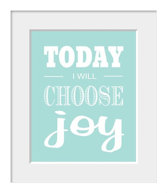 Inspirational Quotes About Joy: Items Similar To Inspirational Quote, Joy Print, Home
